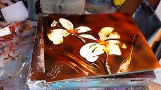 Orquídea flowers spray art