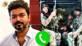 வெற்றியுடன் திரும்புவீர்கள் : Vijay's Heartfelt Phone Call to Fan Going to Kashmir Border   Hot News