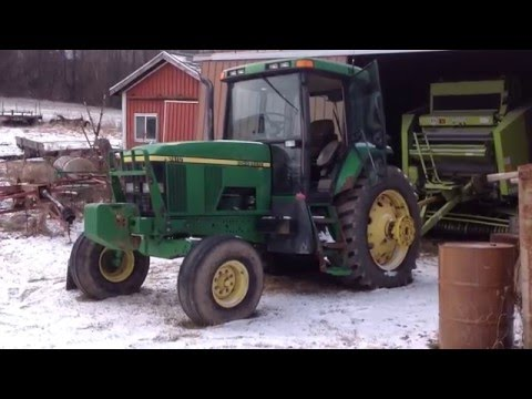 High hour John Deere 7410 cold start after 0°F. night