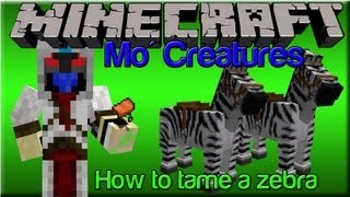 Mo Creatures Tutorial - How to tame a Zebra