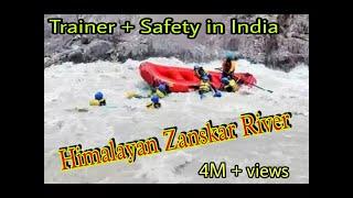 Ladakh Raft flip and Rescue |Salute to Trainer |River Rafting in Leh Ladakh - Toughest in India