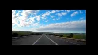 Dash Cam Adelaide to Port Augusta on a Cloudy Afternoon Time Lapse