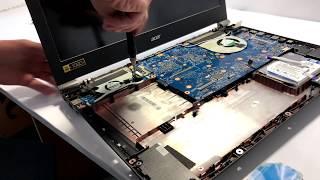 Разборка игрового ноутбука Acer Aspire V17 Nitro Black Edition