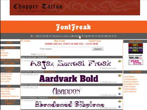Looking for a hot letter tattoo design? This site is just what you are