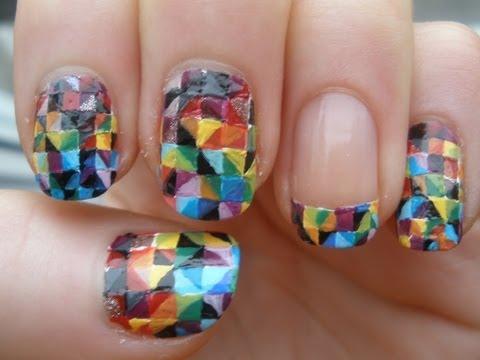 Colorful Kaleidoscope Nail Art Tutorial