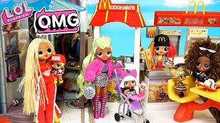 LOL Doll Family Summer Morning Routine - Shopping with LOL OMG Dolls