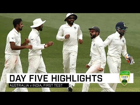 Aussies fight hard but India win gripping contest | First Domain Test thumbnail