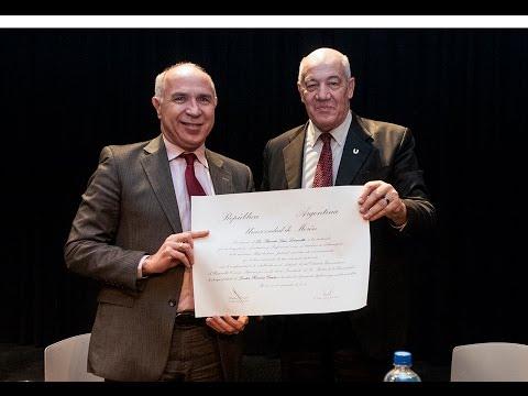 Lorenzetti fue distinguido por la Universidad de Morón con el título de Doctor Honoris Causa