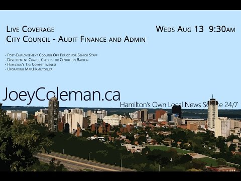 Hamilton Audit, Finance, and Admin Committee for August 13, 2014