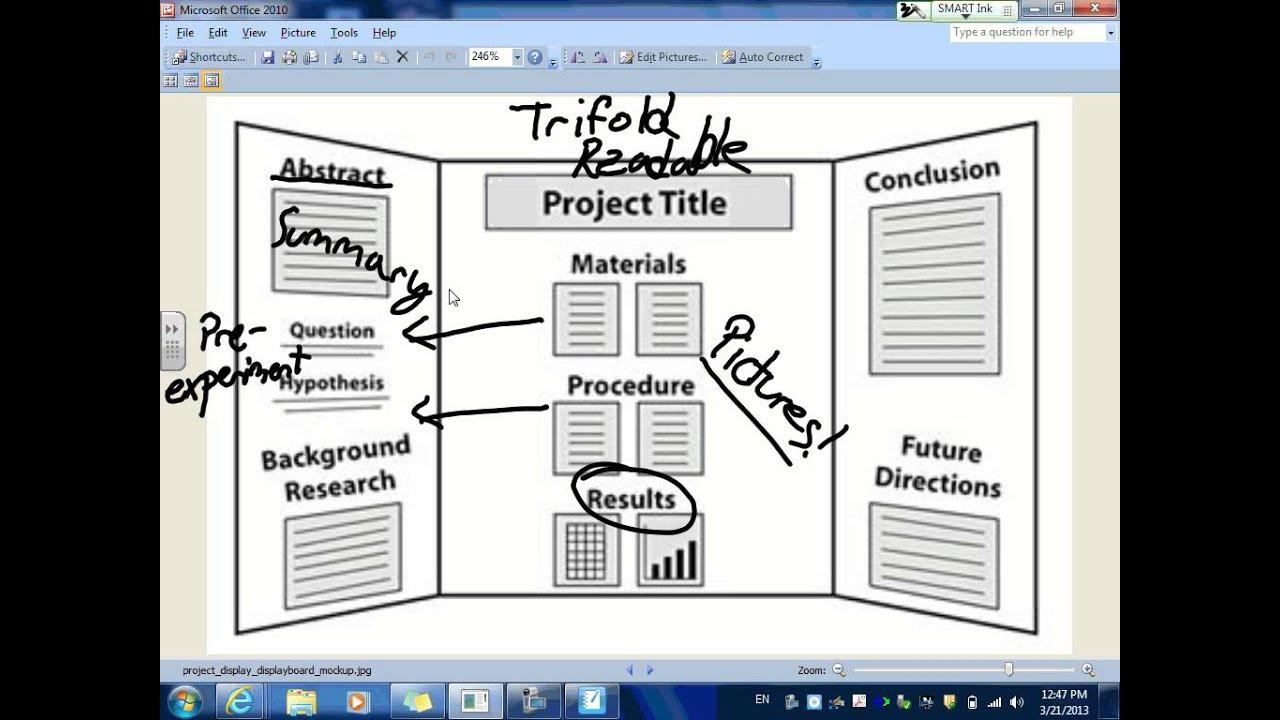 Tri fold poster board design template