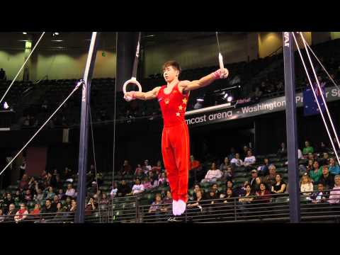 Guanhua Wu - Still Rings Finals - 2012 Kellogg&#039;s Pacific Rim Championships - 1st
