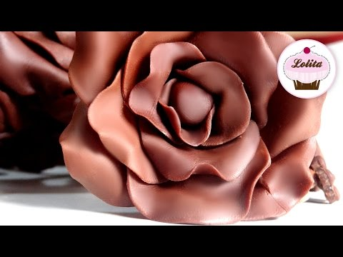 Receta: Chocolate para modelar -- Tutorial rosa de chocolate