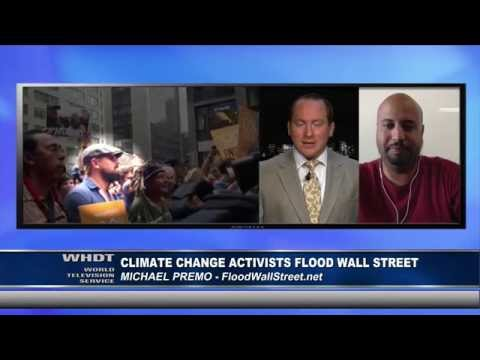 Global Warming Activists Flood Wall Street - Michael Premo Interview