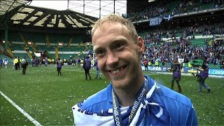 Steven Anderson after winning the Scottish Cup