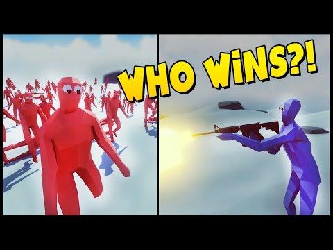 TABS - M16 vs PEASANT ARMY! Super Boxer vs Peasant Army - Totally Accurate Battle Simulator