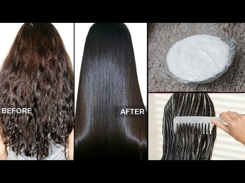 How to straighten Hair Naturally at home within 1 hour |100% Works | 4 Ingredients.