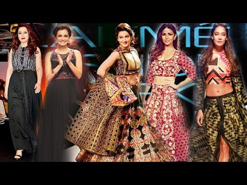 Bollywood Actress Dazzle The Ramp @ Lakme Fashion Week 2015