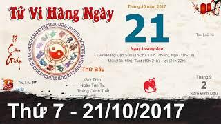 Tử Vi Thứ 7 Ngày 21/10/2017 ☯ Xem Tử Vi Hàng Ngày 12 Con Giáp - Tâm Linh 365