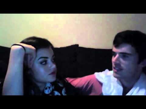 Lucy Hale & Ian Harding Ustream funny moments