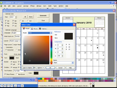 15 Calendar in Corel Draw