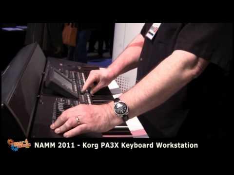 NAMM 2011: Korg Demonstrate the PA3X Keyboard Workstation