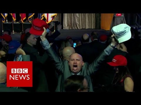 US Election: Moment Ohio was called for Donald Trump - BBC News