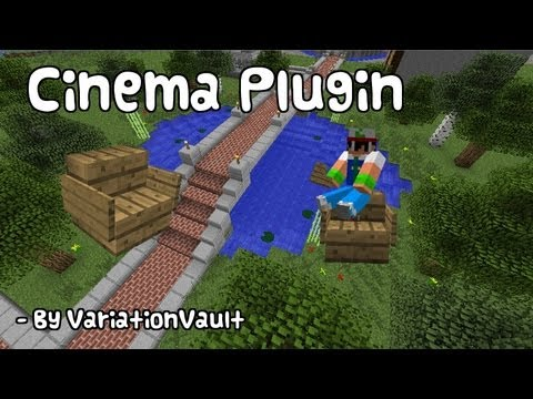 Minecraft Bukkit Plugin - Cinema - Create a working cinema in minecraft, moving frames!