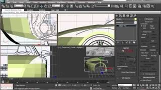 How to Model Audi R8  in 3ds Max  Part 1 HD 2014 Tutorial