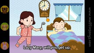 Muffin Songs   Lazy Mary  nursery rhymes & children songs with lyrics  muffin songs
