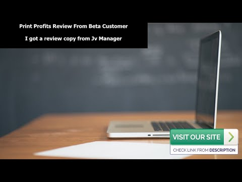 Print Profits Review From Customer-Print Profits Demo Video inside the member's area
