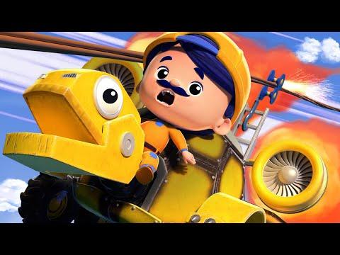 Camionul de pompieri Turtle e salvat de Buldozerull Bull de un accident - desene pentru copii