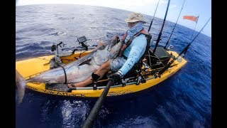 (Kayak Record) Epic 170 lbs Dogtooth Tuna from a kayak by slow pitch jigging on Guam