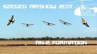 An-2 formation at Szeged Airshow 2017