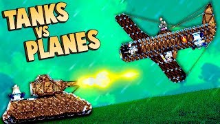 AIR STRIKE INCOMING!  Planes vs Tanks in Forts (Forts Multiplayer Gameplay)