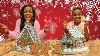 GINGERBREAD HOUSE DECORATING CHALLENGE GIRLS vs BOYS