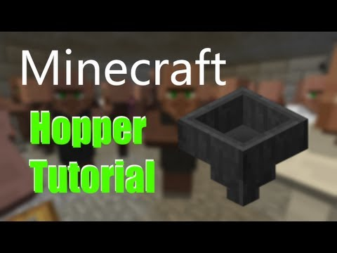 Minecraft 1.5: Hopper Tutorial