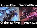 Lagu [ Adrian Riven ] Riven vs Fiora [ Suicidal Diver ] Top  - Educational matchups today