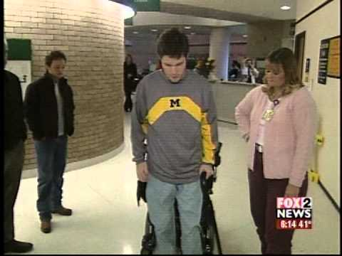 Walking out of the Hospital – Blake on Fox 2 News while at University of Michigan Hospital
