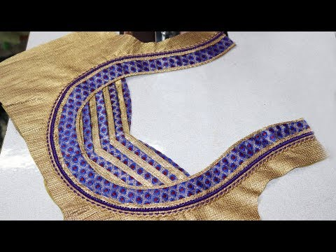 Latest Silk saree Blouse Design 2018