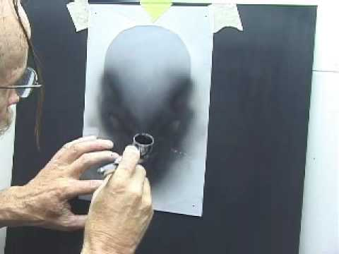 Airbrush-Using Two Part Skull Template Video