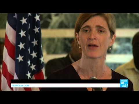 US ambassador to the UN Samantha Power visits Liberia - EBOLA
