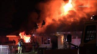House Fire / Fontana  RAW FOOTAGE