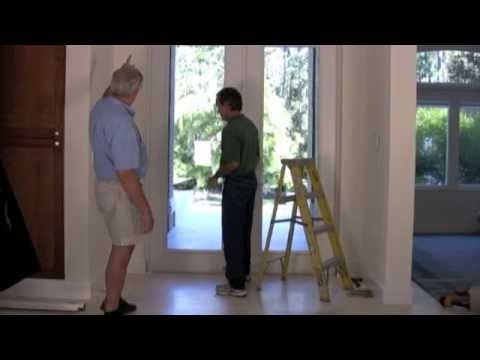 Retractable Screen Door - Installation of the Bella Retractable Screen on a French Door