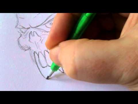 How To Draw A Vampire Skull
