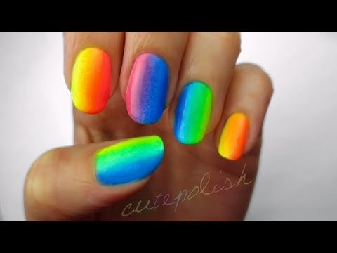 Rainbow Ombre Nails Rainbow Ombre Using Only 3