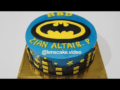 Batman Arkham City ! How to Make Birthday Cake for Kids