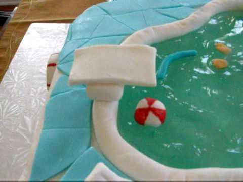 Make A Swimming Pool Cake