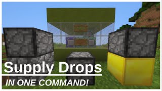 Supply Drops (One Command) - Minecraft 1.9