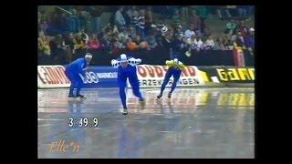World Cup Heerenveen 1990 - 5 km Karlberg - Visser