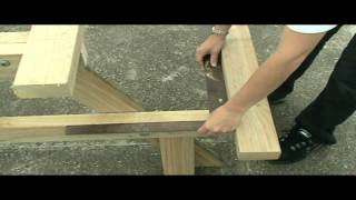 How to make a picnic table - take 2